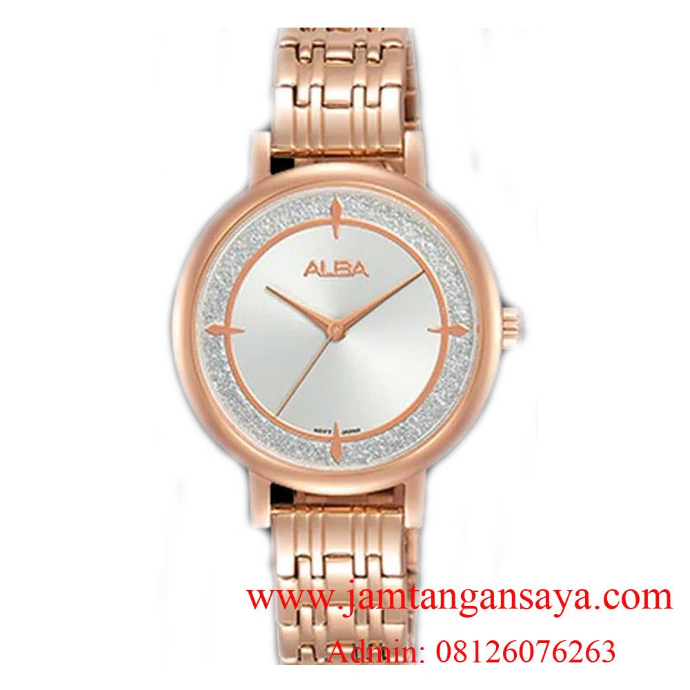 Alba AH8524X1 White Dial Rosegold Stainless Steel Ladies