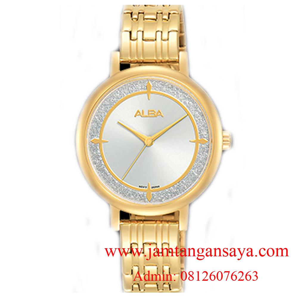 Alba AH8526X1 White Dial Gold Stainless Steel Ladies
