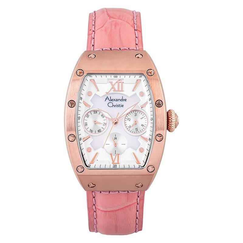 Alexandre Christie 2780BF Rosegold Pink Leather